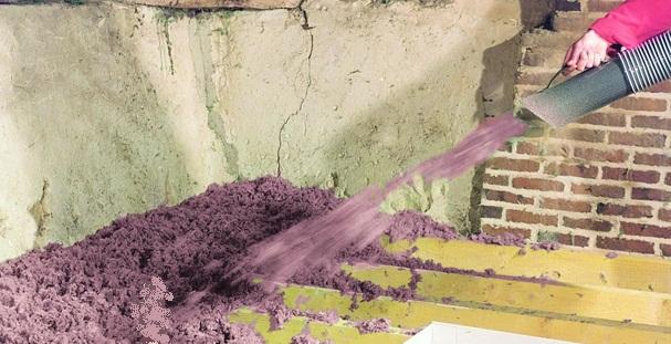 Isolation des combles la technique du flocage for Pose laine de roche